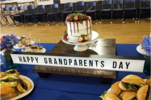 cake and food for grandparents day